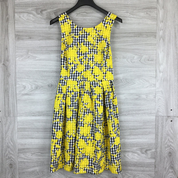 1901 Embroidered Gingham Fit & Flare Dress
