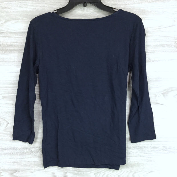 1901 Bow Neck Stretch Cotton Blend Tee