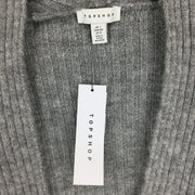 Topshop Open Front Ribbed Knit Sweater