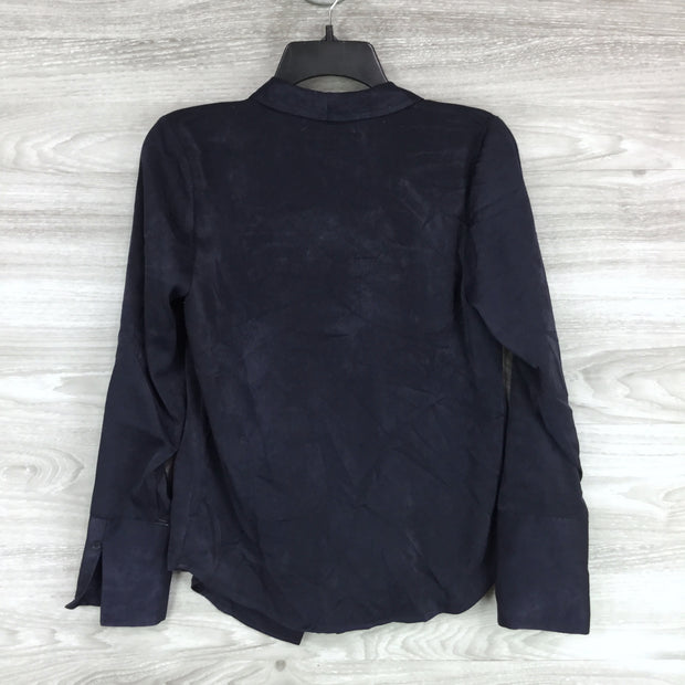 Something Navy Draped Front Top
