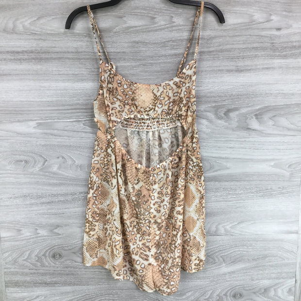 Topshop Snake Print Cut Out Romper