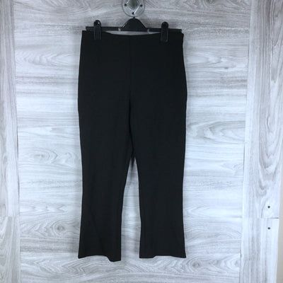 Topshop Bonded Kick Flare Trousers