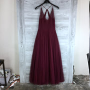 Hayley Paige Burgandy A-line Gown