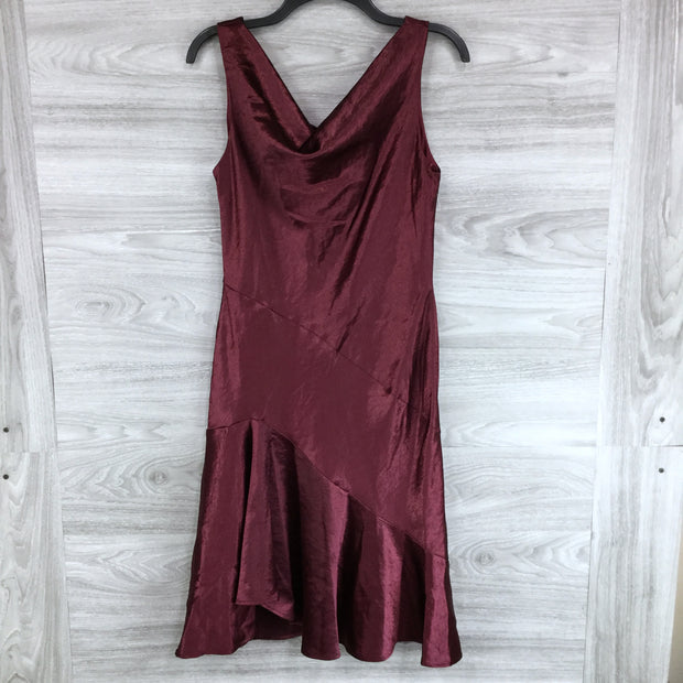 Taylor Maroon Sleeveless Dress