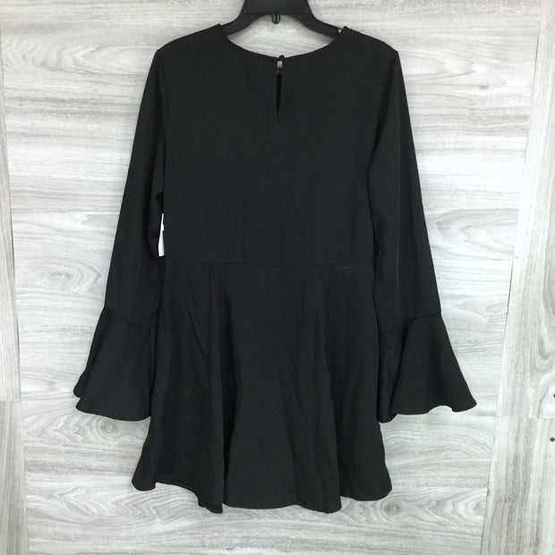 Chelsea28 Black Bell Sleeve Fit & Flare Dress