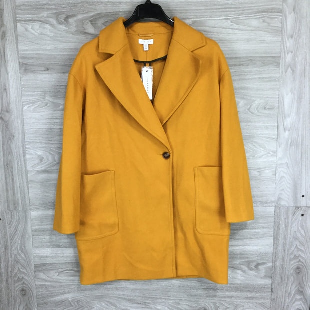 Topshop Single Button Wide Collar Coat