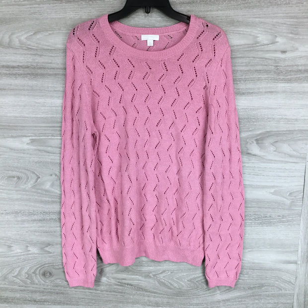 14th & Union Pointelle Crew Neck Sweater