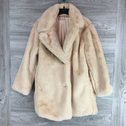 Philosophy Faux Fur Notch Collar Coat