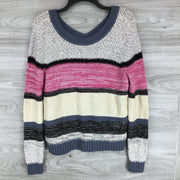 Caslon V-Back Stripe Sweater