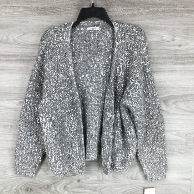 FRNCH Marled Open Front Cardigan