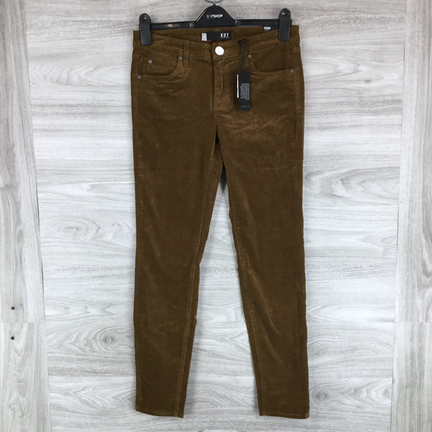 Kut From The Kloth Diana Stretch Corduroy Skinny Pants Brown