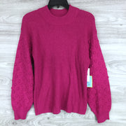 CeCe by Cynthia Steffe Puff Sleeve Bobble Ribbed Sweater