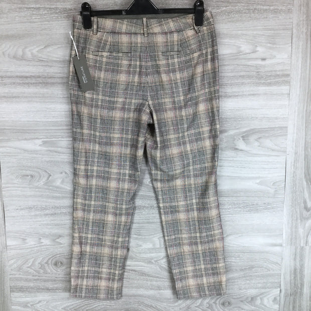 Nordstrom Signature Plaid Slim Leg Crop Pants