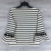 Marc Jacobs Striped Boatneck Pom-Pom Top