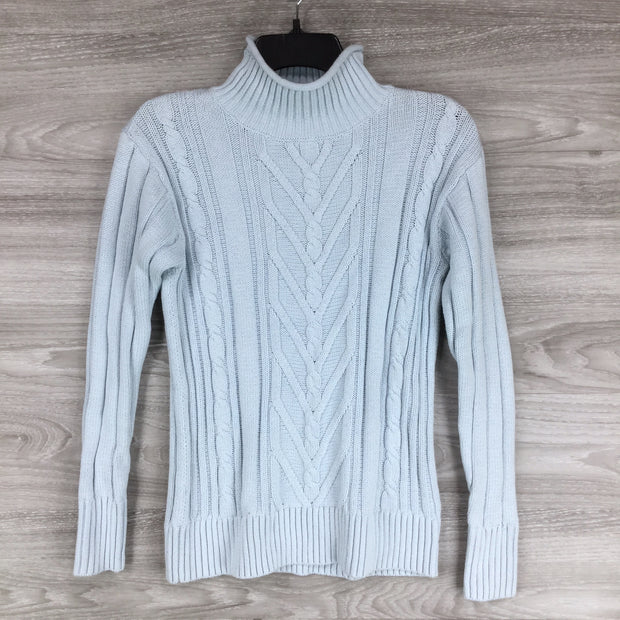 J. Crew Mock Neck Patterned Knit Sweater