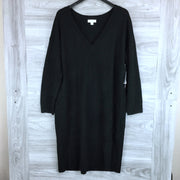 Treasure & Bond V-Neck Long Sleeve Sweater Dress