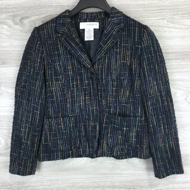 Sag Harbor Multicolor Snap Front Jacket