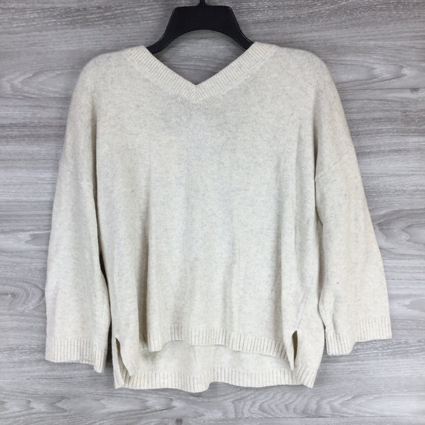 Madewell Heather Ice V Neck Croptop Sweater