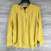 J. Crew Ruffle Popover in Mini Windowpane