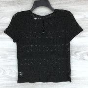 Chelsea28 Lace Short Sleeve Keyhole Top