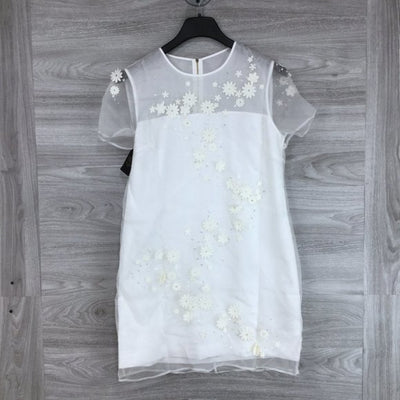 Ted Baker Findon Embellished Silk White Dress
