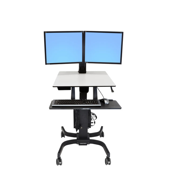 Ergotron Workfit C Dual Sit Stand Workstation Ergoport