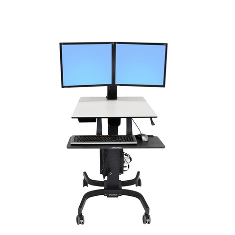 Ergotron® WorkFit-C Dual Sit-Stand Workstation
