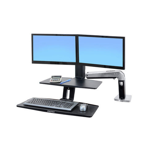 Ergotron WorkFit-A with Suspended Keyboard (Dual)