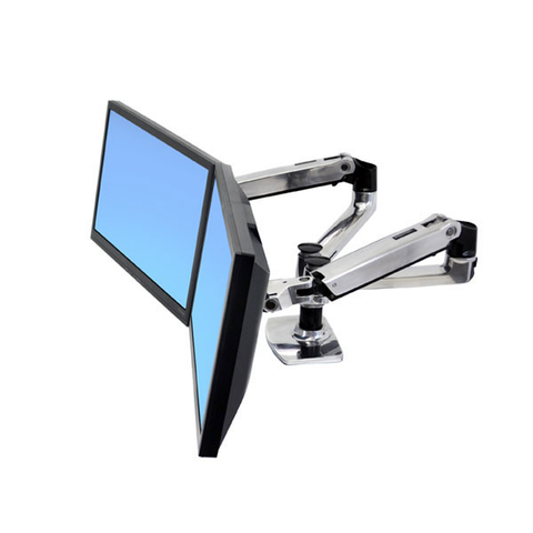 Ergotron ® LX Dual Side-By-Side Desk Mount LCD Arm