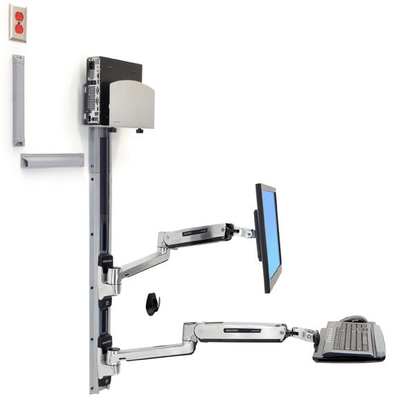 Ergotron ® LX Sit-Stand Wall Mount System