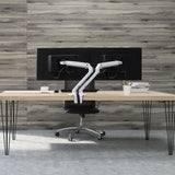 Ergotron MXV Dual Monitor Arm White Back