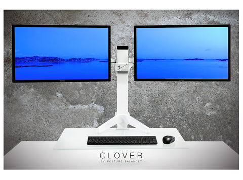 Clover Electric Sit Stand Desk Dual