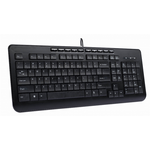 Delux Wired Ultra Slim Multimedia Keyboard