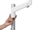 CBS Lima Monitor Arm White Single