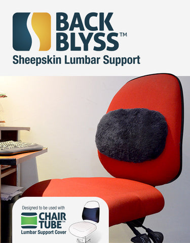 BackBlyss Sheepskin Lumbar Support