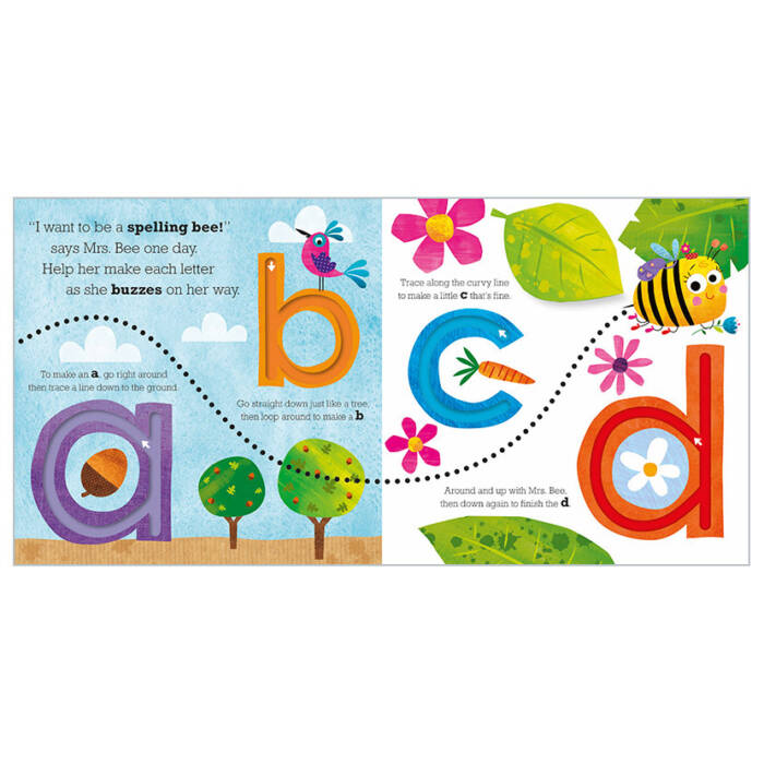 Mrs bee's ABC Trace And Flap (Board Book)