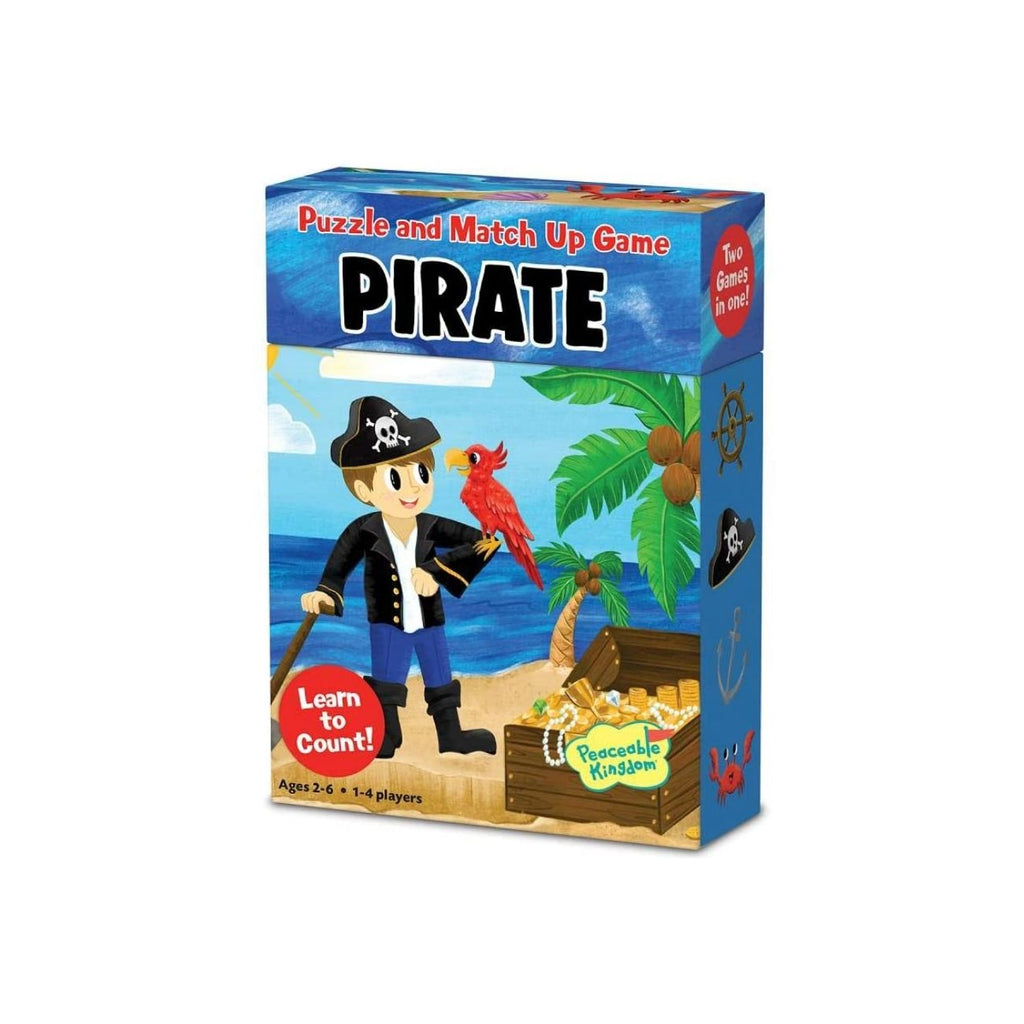 Peaceable Kingdom Pirate Puzzle and Match Up Game and Puzzle