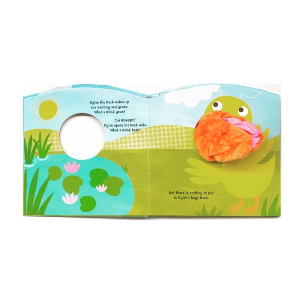 Hand Puppet Book: The Hungry Duck (Hardback)