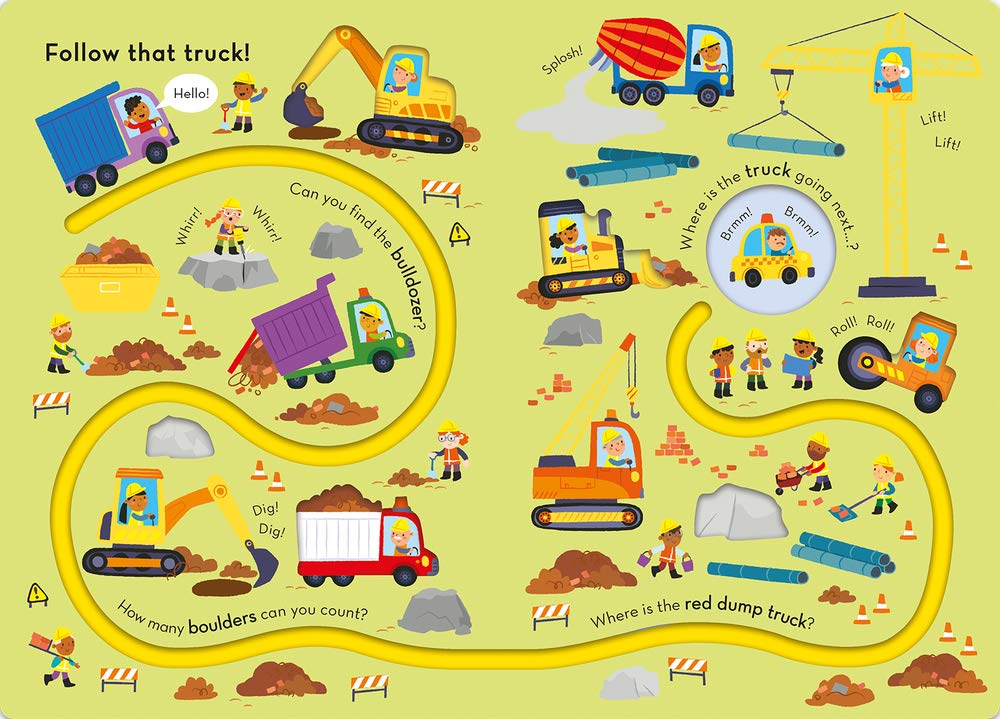 Trace the Trails : Follow That Truck! (Board Book)