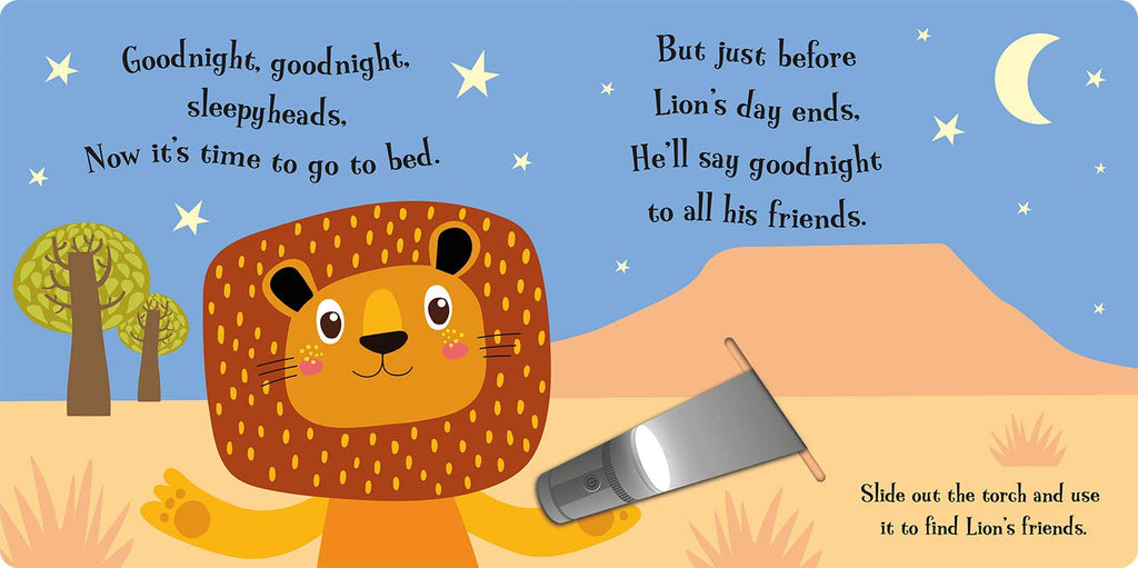 Torchlight Book : Goodnight Lion (Board Book)