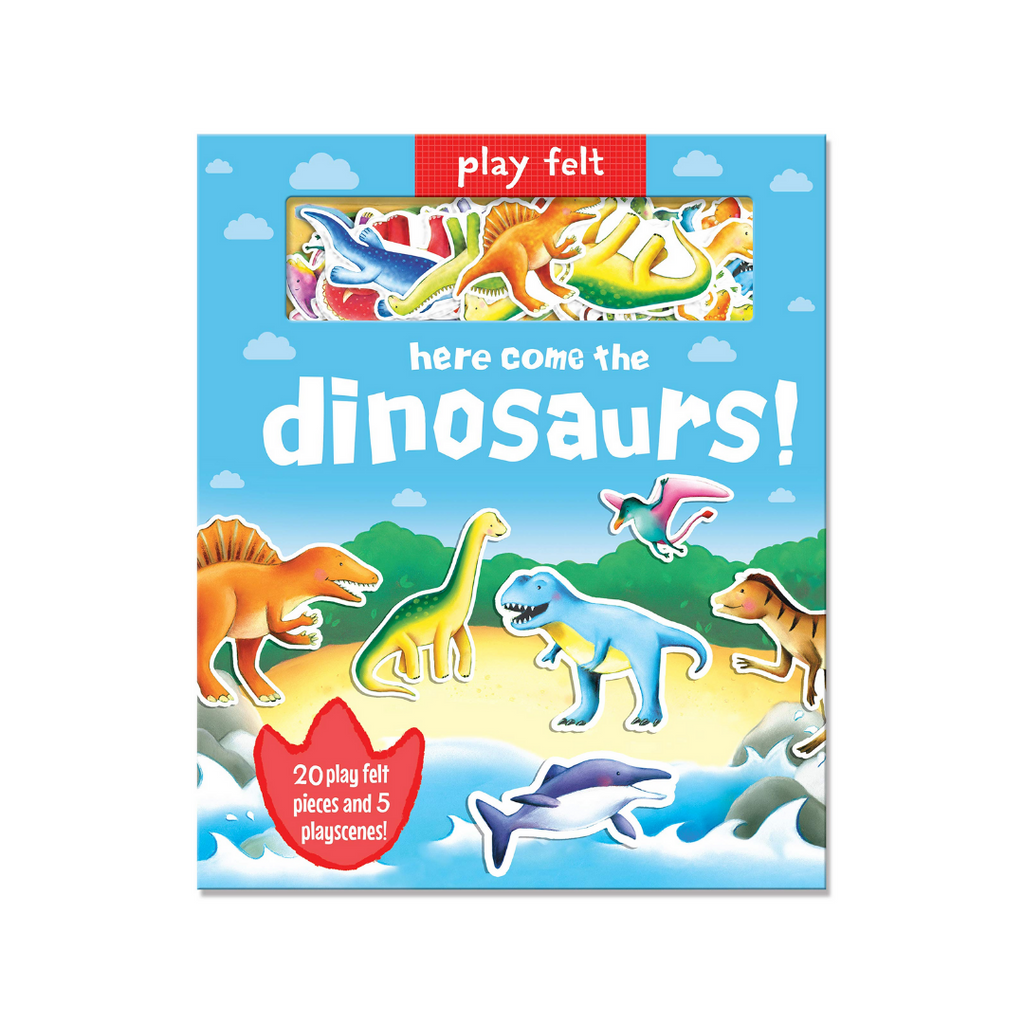 Soft Felt Play: Here Comes the Dinosaurs (Hardback)