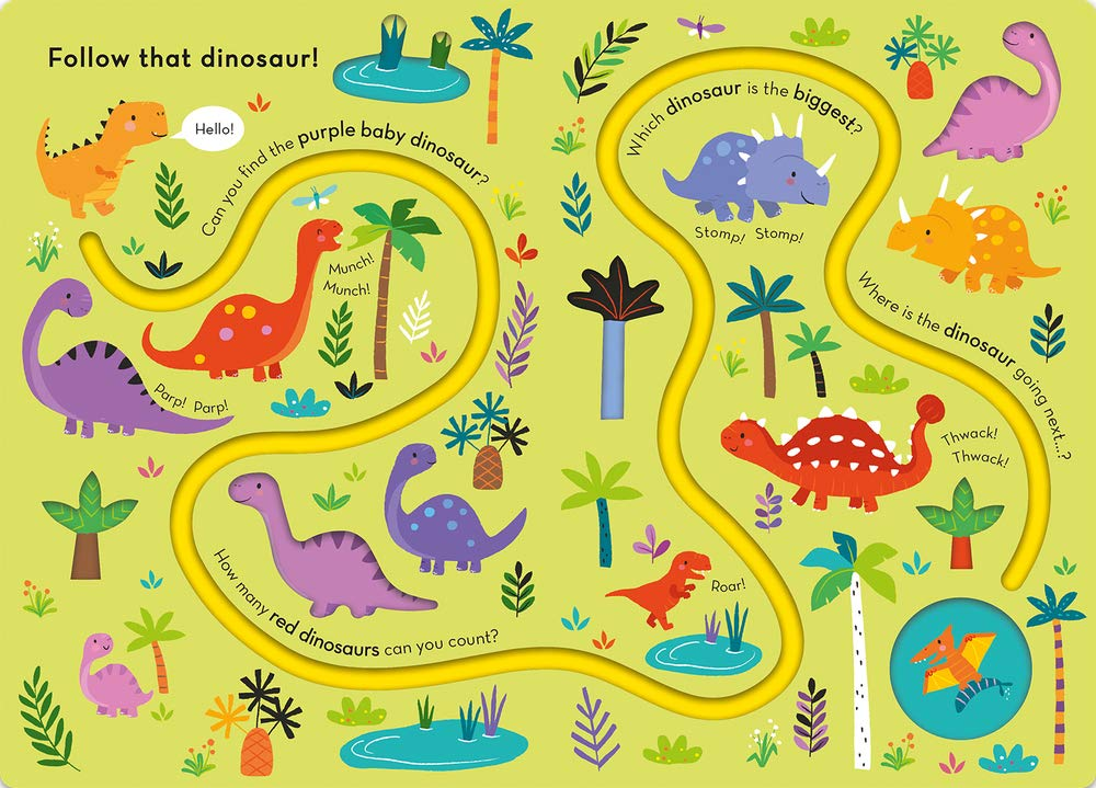 Trace the Trails : Follow That Dinosaur! (Board Book)