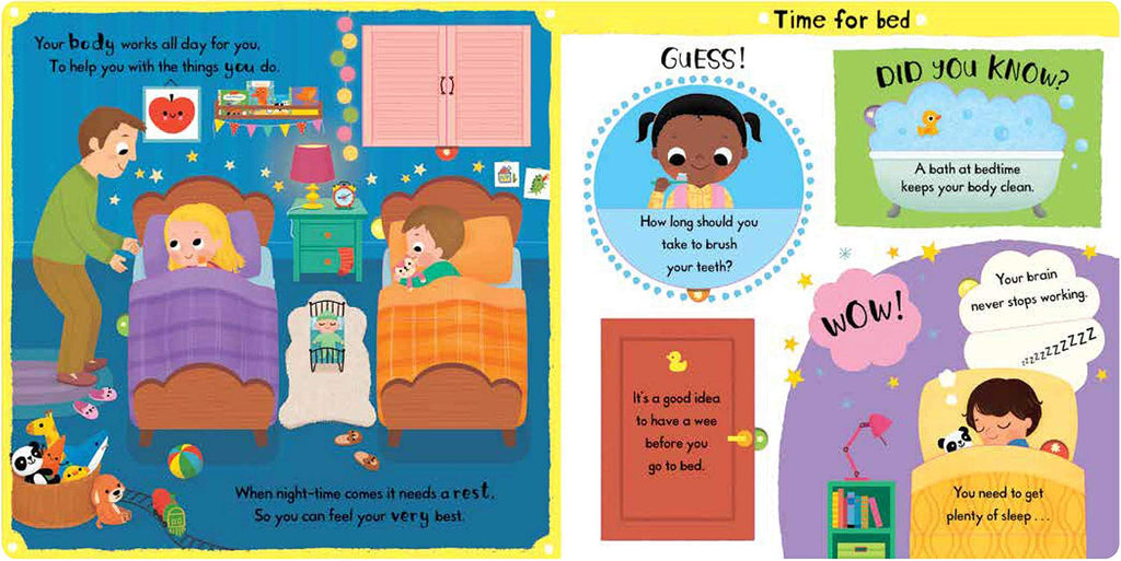 First Facts And Flaps : My Busy Body (Board Book)