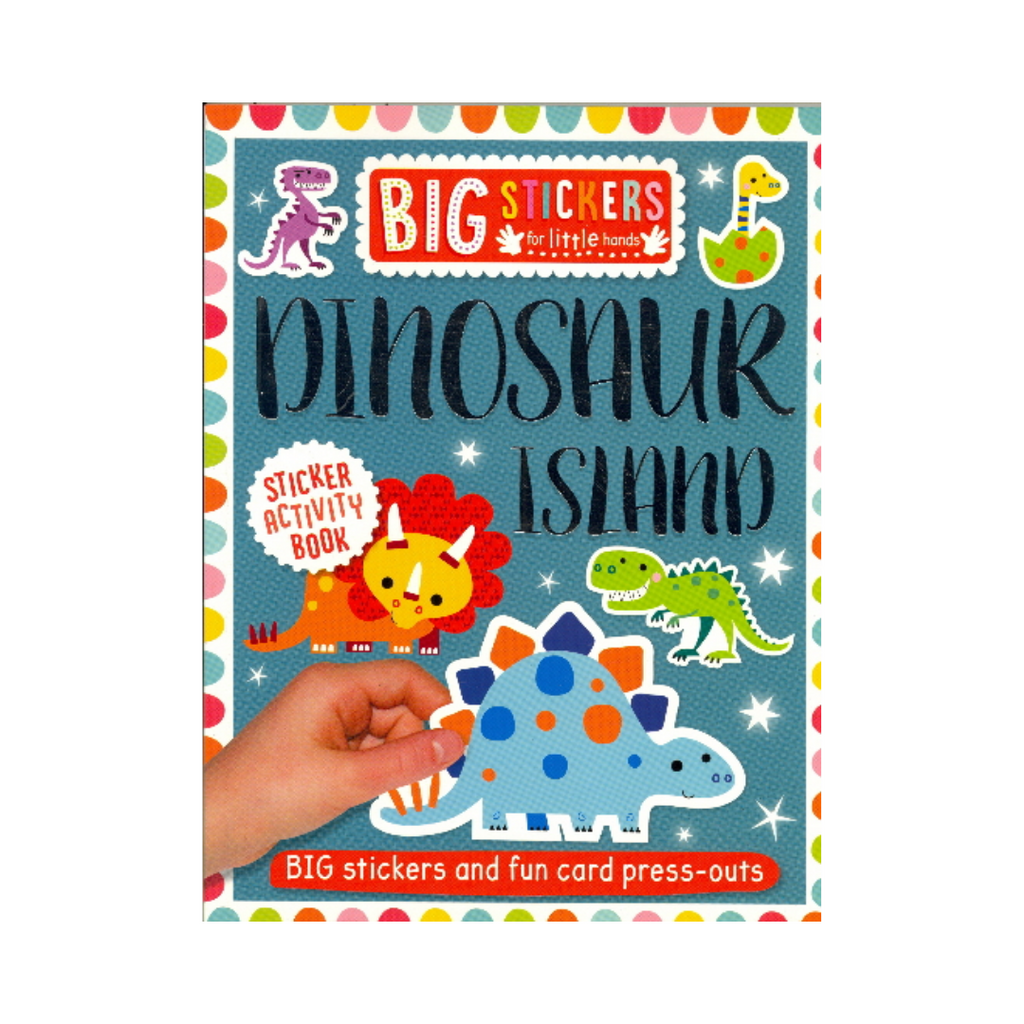 Big Stickers for Little Hands: Dinosaur Island (Paperback)