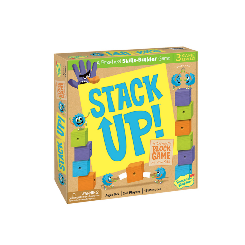 Peaceable Kingdom Stack Up! Preschool Skills Builder Game for Kids