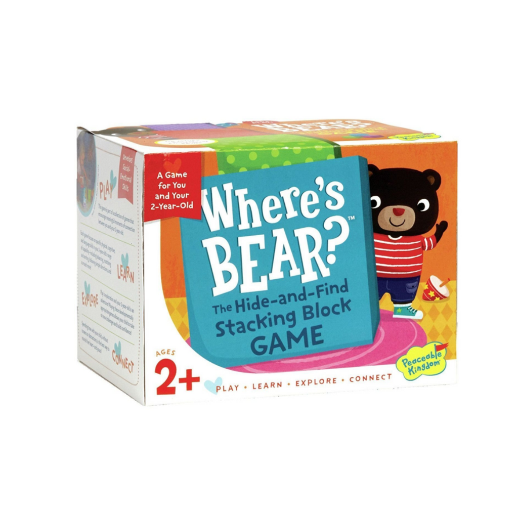 Peaceable Kingdom Where's Bear: The Hide-and-Find Stacking Block Game