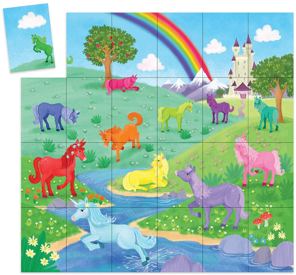 Peaceable Kingdom Unicorn Puzzle and Match Up Game