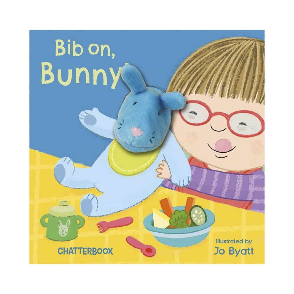 Bib On, Bunny!: With Attached Finger Puppet (Board Book)