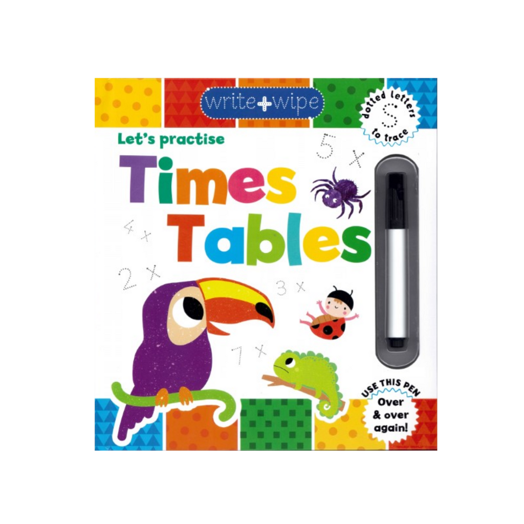 Write & Wipe Clean: Let's Practise Times Tables (Hardback)