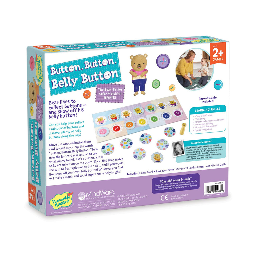 Peaceable Kingdom Button, Button, Belly Button: The Colour Matching Game